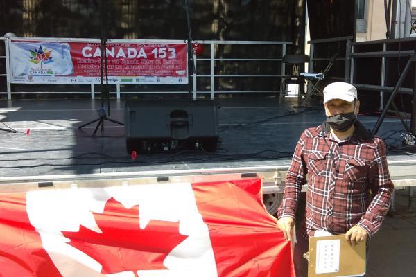 Canada Day Celebration in Jean-Talon Park