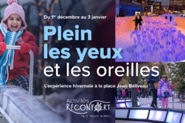 Enjoy a winter experience at Place Jean-Béliveau