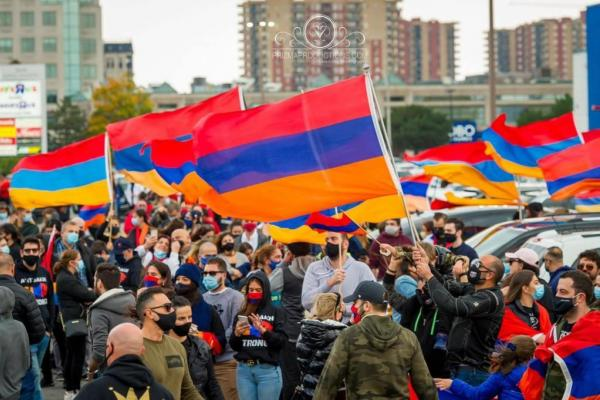 Montreal protest for recognition of Armenian conflict