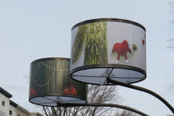 Lampshades shed light on art on Avenue Cartier