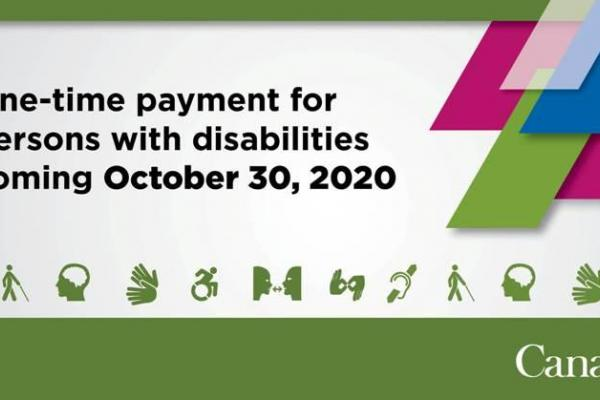 1.6 million Canadians with disabilities can expect a $600 one-time payment
