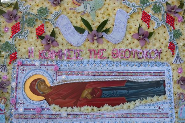 Celebrating The Dormition of Mother Mary in State of Pandemic in the heart of Park Extension