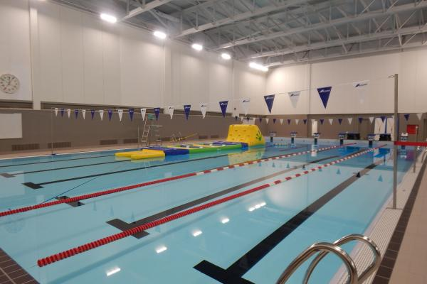 Inauguration of the new swimming pool at the Pavillon des sports in Gaspé