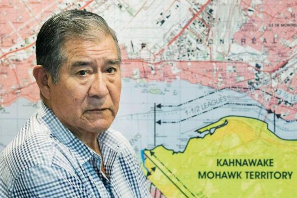 A minute of silence for Kahnawake Grand Chief Joe Norton in Montreal