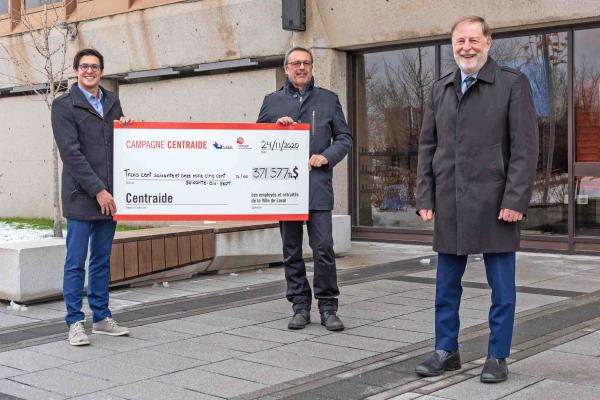Laval workers and retirees donate more than $371,000 to Centraide