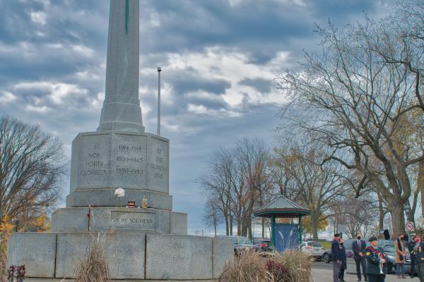 Remembrance Day ceremony held at Cross of Sacrifice