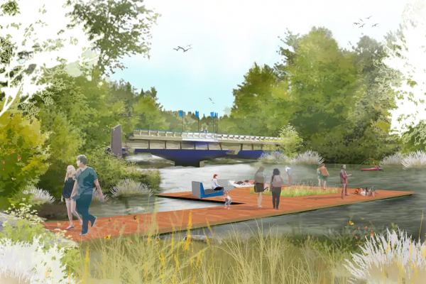 City unveils plan to link rivers in huge park