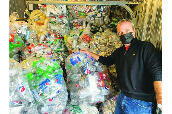 Non-profit collects recyclable items to tackle food insecurity