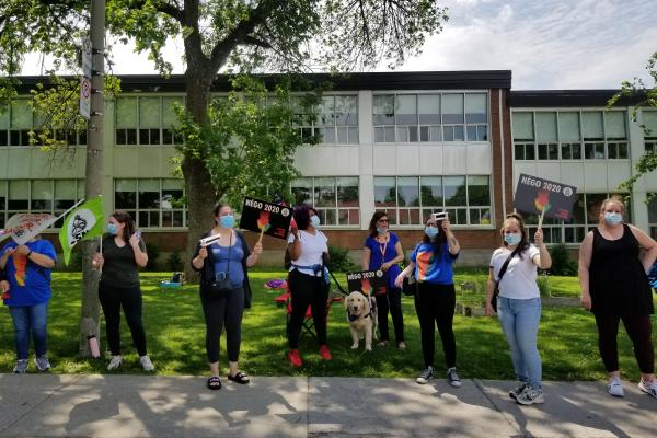 Park-Ex support staff hits the picket line