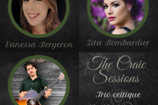 Trio celtique presents The Craic Sessions for St. Patrick's Day