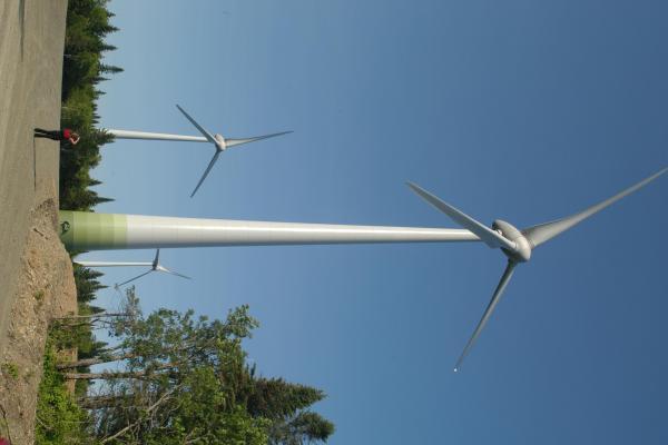 1,200 megawatt wind power project in Eastern Quebec