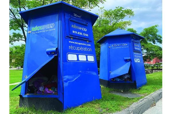 Récupex recycled clothing containers vandalized