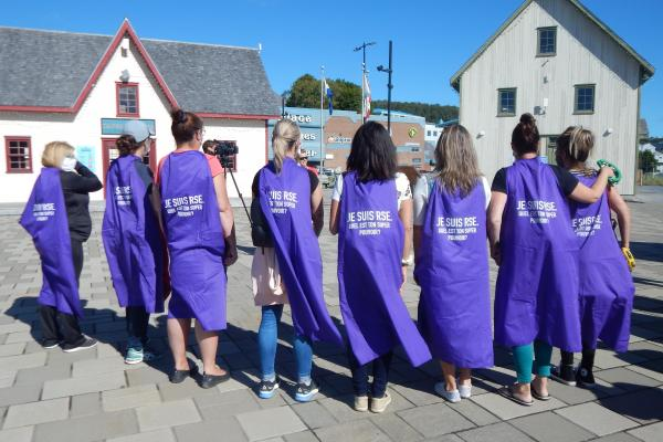 Family childcare workers strike