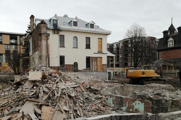 "Demolition underway for ""two villas"" project"