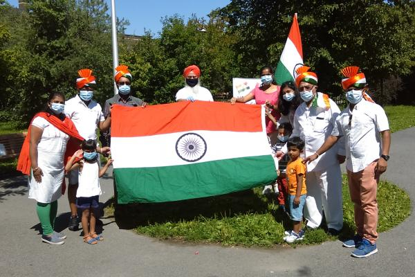 Locals celebrate India's Independence Day and many leaders and members of government came to pay homage as well—and at 2 separate events