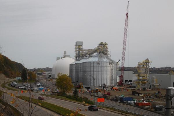 Riverfront grain terminal project nears completion
